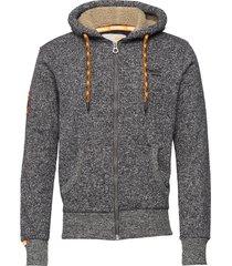 orange label mountain ziphood hoodie trui grijs superdry