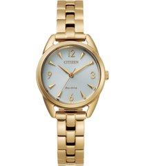 drive from citizen eco-drive women's gold-tone stainless steel bracelet watch 27mm