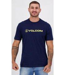 camiseta volcom silk euro marinho - masculino