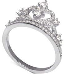 disney cubic zirconia tiara ring in sterling silver
