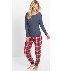 pyjama met flanellen broek (2-dlg. set)