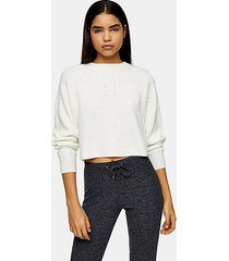 ivory super soft knitted raglan sweater - ivory