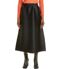women's pleats please issey miyake cantabile pleated midi skirt, size 5 - black