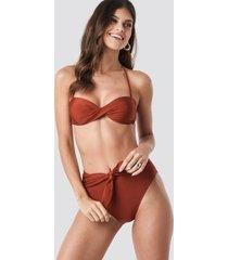 trendyol front brace bikini bottom - brown