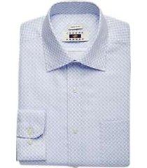 joseph abboud sky blue paisley modern fit dress shirt