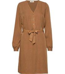 bellevue dress jurk knielengte bruin modström