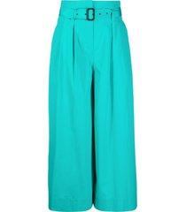 aspesi belted maxi skirt - green