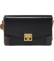 givenchy gv3 leather and suede wallet on chain bag