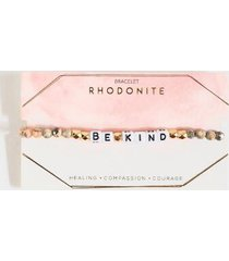 be kind rhodonite bracelet - pink