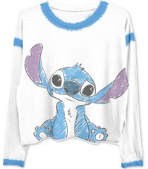 freeze 24-7 trendy plus size stitch-print ringer t-shirt