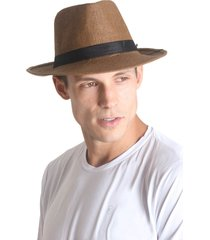 chapéu panamá unissex - marrom - praaiah
