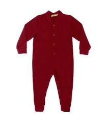 macacáo pijama em soft grosso douvelin vermelho