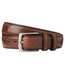 jos. a. bank stitch- edged leather belt - long clearance