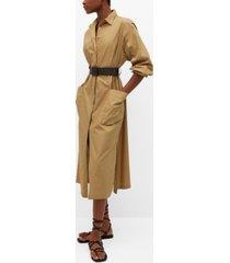 mango popelin belt dress