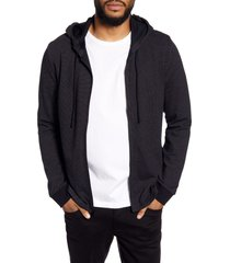 men's vince regular fit bird's eye zip hoodie