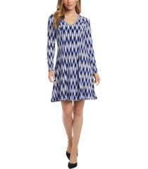 karen kane printed fit & flare dress