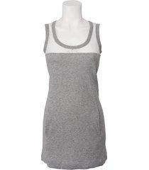 phard jurk - abito candra - grijs / wit