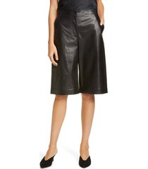 women's lafayette 148 new york ryerson leather bermuda shorts
