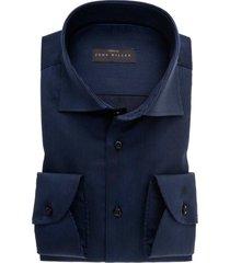 john miller overhemd tailored fit navy gestreept