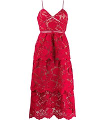 flower lace mdi dress