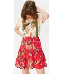 damska spódnica z wzorem