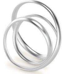 anillo double loop plateado vari