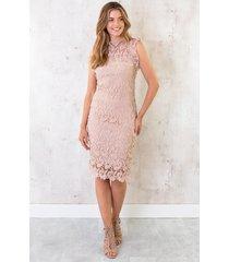 feminine dress lace pink