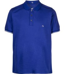 fay blue stretch cotton polo shirt