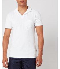 orlebar brown men's terry t-shirt - white - s - white
