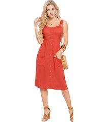 vestido corto para mujer ladrillo mp 49882
