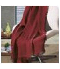 manta de algodão unicolor liso vermelho 120 x 150 cm d'rossi