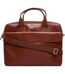 basis laptop bag - cognac computertas tas bruin royal republiq