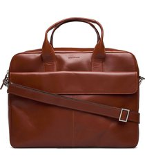 basis laptop bag - cognac computertas tas bruin royal republiq