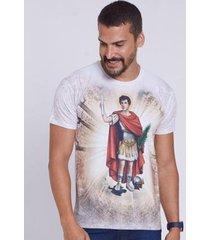 camiseta santo expedito dve4433 ágape masculina - masculino