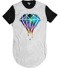 camiseta manga curta skull clothing diamante gal. branco