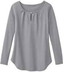 shirt met lange mouw en druppelhals, silver star 36