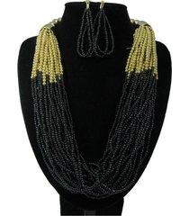 collar artesanal negro sasmon cl-12330