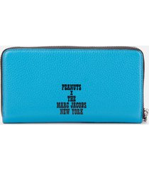 marc jacobs women's the box peanuts americana continental wallet - red multi