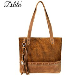 delila by montana west ~ 100% genuine leather hair-on hide tote handbag ~3 color