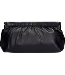 isabel marant luz clutch in black leather
