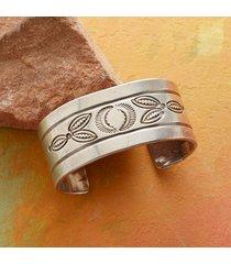 1960s stamped sterling cuff bracelet