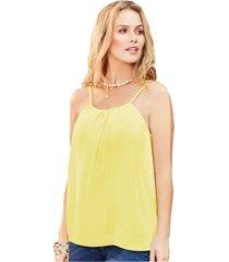 blusa adulto femenino amarillo claro marketing  personal