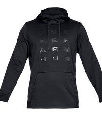 buzo negro under armour fleece tempo