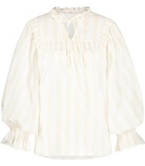 gestreepte blouse carella  wit