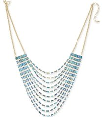 """thalia sodi gold-tone baguette multi-row necklace, 18"""" + 3"""" extender, created for macy's"""