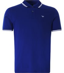 emporio armani mercerised piqué polo shirt | blue | 3k1fa7-1jtkz