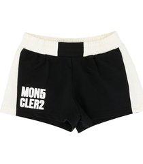 moncler shorts with logo print