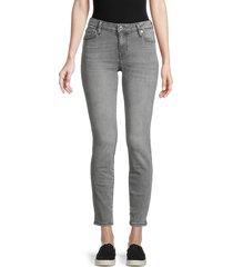 true religion women's halle skinny ankle jeans - grey - size 25 (2)