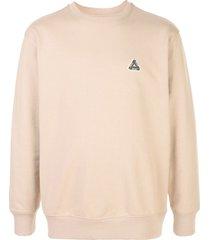 palace graphic print sweatshirt - neutrals