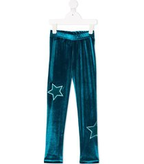 raspberry plum teen galaxy trousers - green